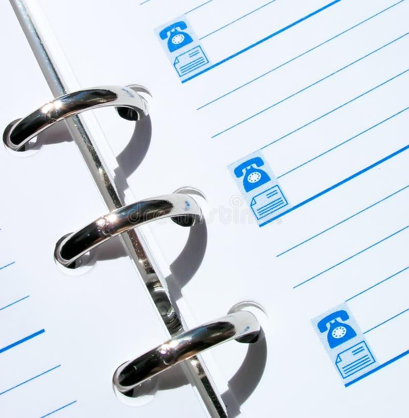 De notaboek van de telefoon royalty-vrije stock foto