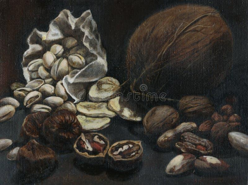 De noten stock illustratie