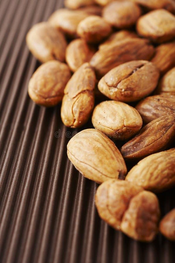 De noten van de amandel stock afbeeldingen