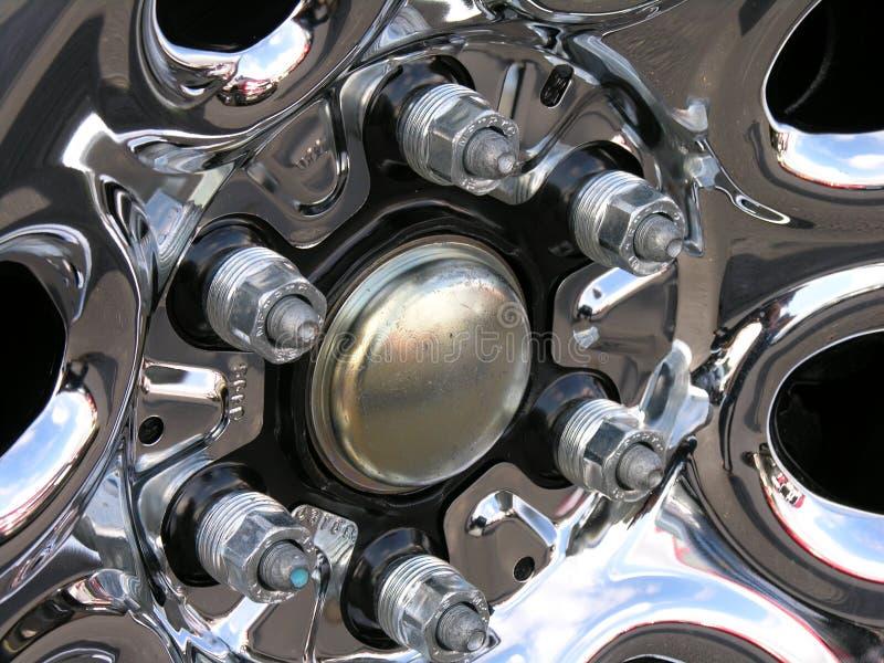 De noten van het handvat op een nieuwe vrachtwagen. royalty-vrije stock afbeelding
