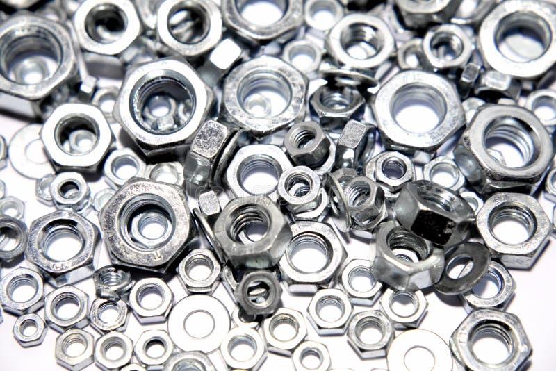 De noten van het staal royalty-vrije stock afbeeldingen