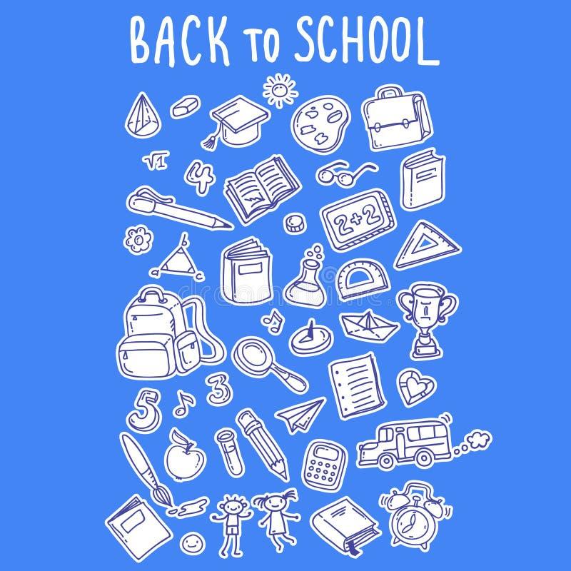 Download De nouveau à l'école illustration de vecteur. Illustration du cahier - 76083139