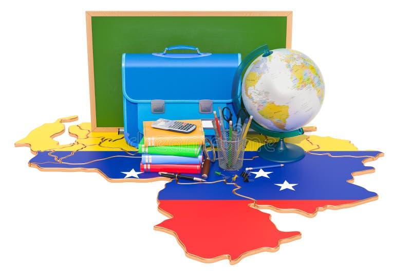 De nouveau à l'école ou à l'éducation dans le concept du Venezuela, rendu 3D illustration de vecteur