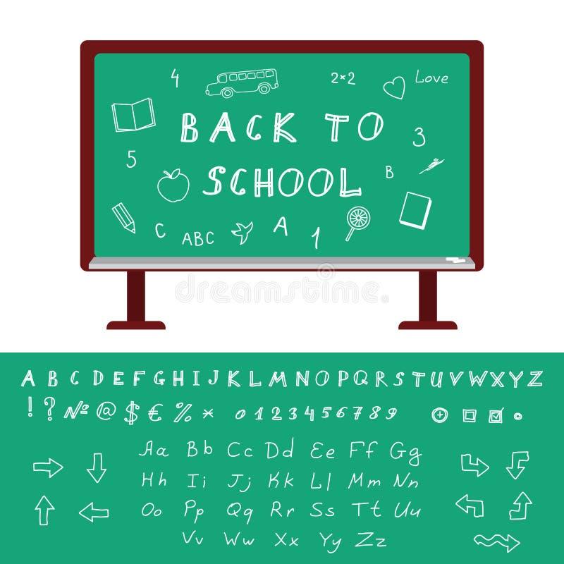 De nouveau à l'alphabet d'école illustration de vecteur