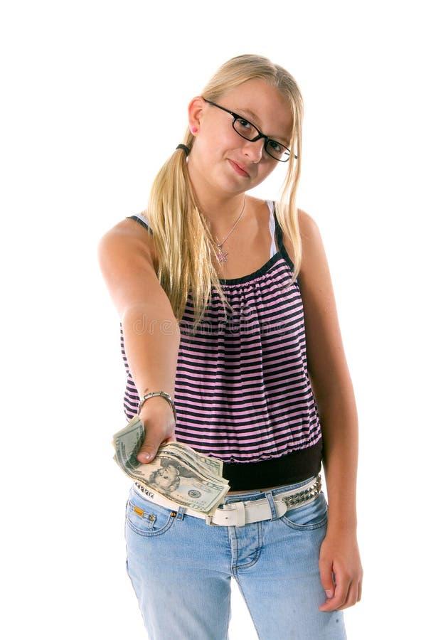 De nouveau à l'argent comptant 4 d'école photo stock