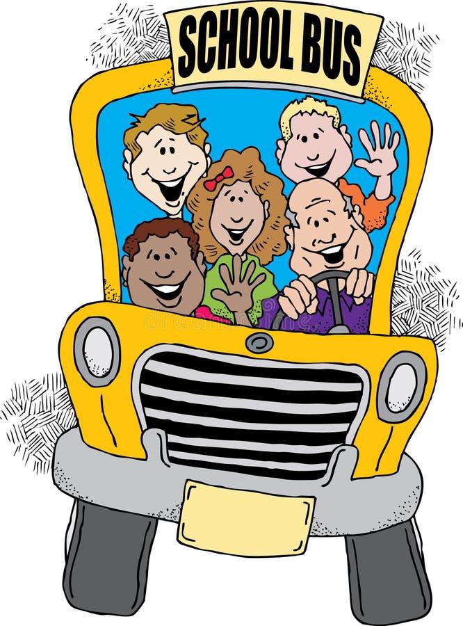 De nouveau à l'autobus scolaire illustration libre de droits