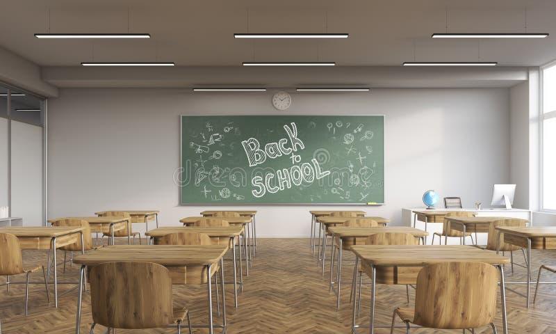 Download De Nouveau à L'intérieur D'école De La Salle De Classe Moderne Illustration Stock - Illustration du moderne, panneau: 76077620
