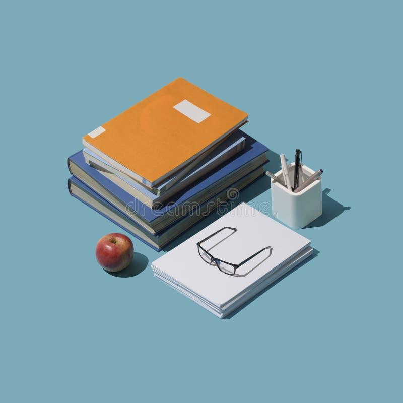 De nouveau au bureau d'étudiant d'école illustration stock