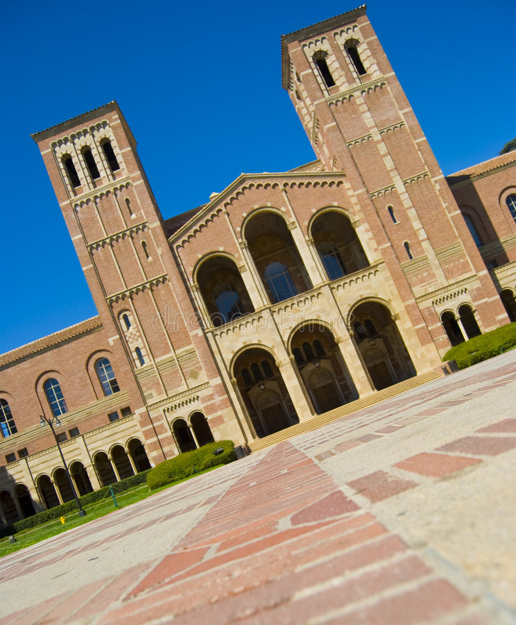 De nouveau au campus d'école photos stock