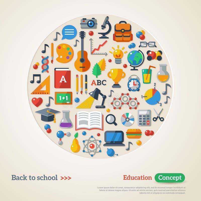 De nouveau au concept d'école illustration libre de droits