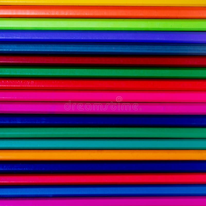 De nouveau au fond d'?cole (EPS+JPG) Modèle coloré de pensils Fin vers le haut ?ducation, concept d'?cole photos libres de droits
