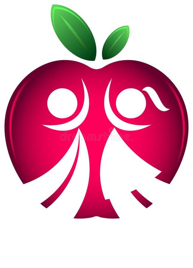 De nouveau au logo de silhouette d'école illustration stock