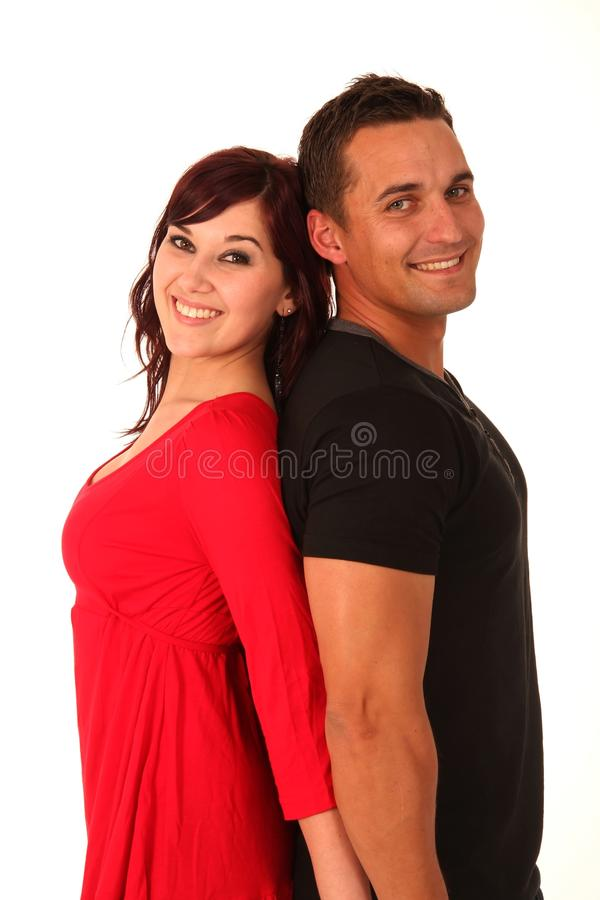 De nouveau aux couples arrières d'amour image libre de droits