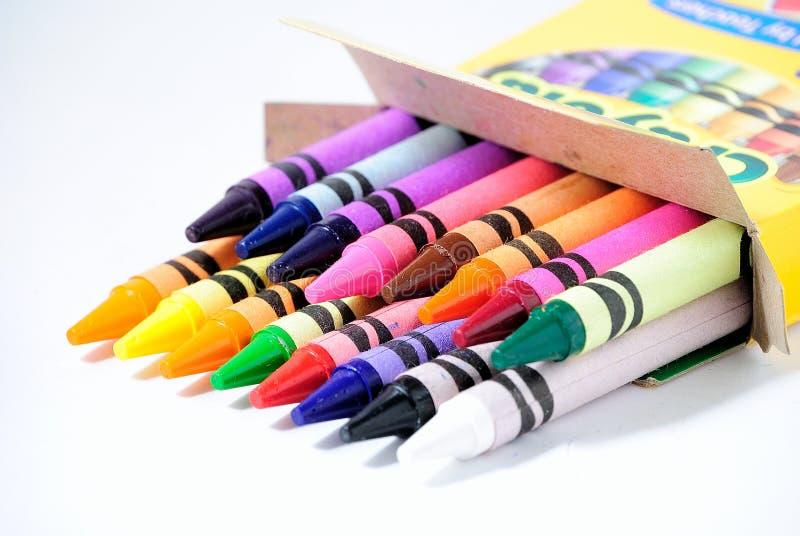 De nouveau aux crayons d'école photographie stock