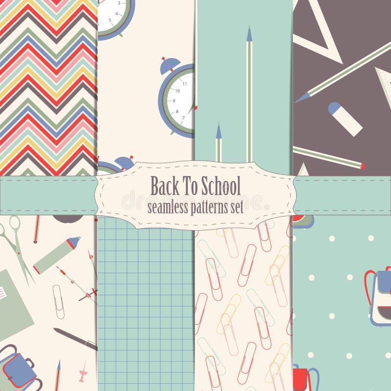 Download De Nouveau Aux Modèles Sans Couture D'école Illustration Stock - Illustration du minimalistic, coloré: 76086531