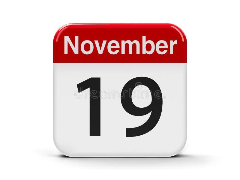 19 de novembro ilustração stock