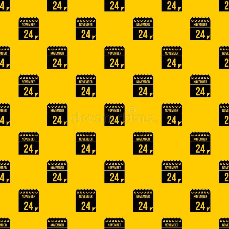 24 de novembro vetor do teste padrão do calendário ilustração do vetor