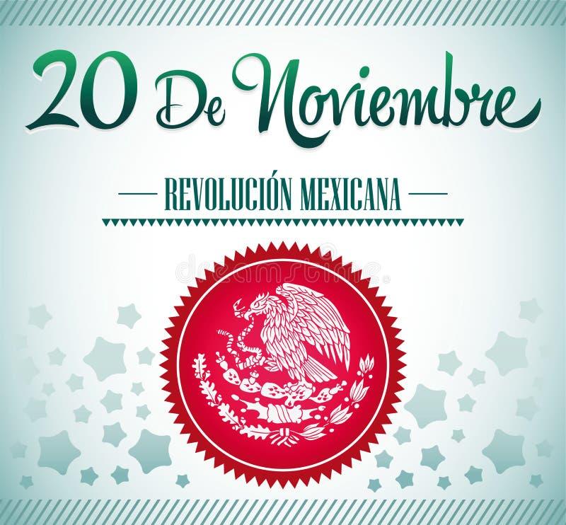 20 de Noviembre, Revolucion Mexicana - mexikanischer Rev stock abbildung