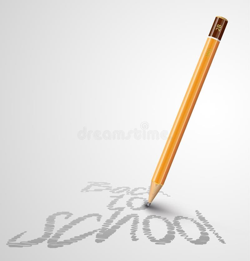 Download De Nuevo Al Cartel De La Escuela Con Un Lápiz Y Un Espacio Ilustración del Vector - Ilustración de equipo, gráfico: 42433538