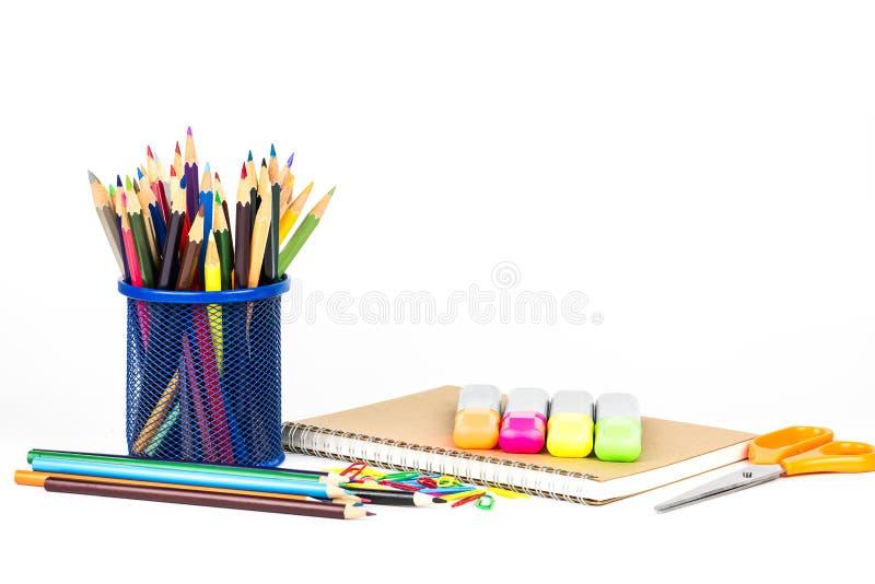 De nuevo al concepto de la escuela aislado en el fondo blanco fotos de archivo libres de regalías