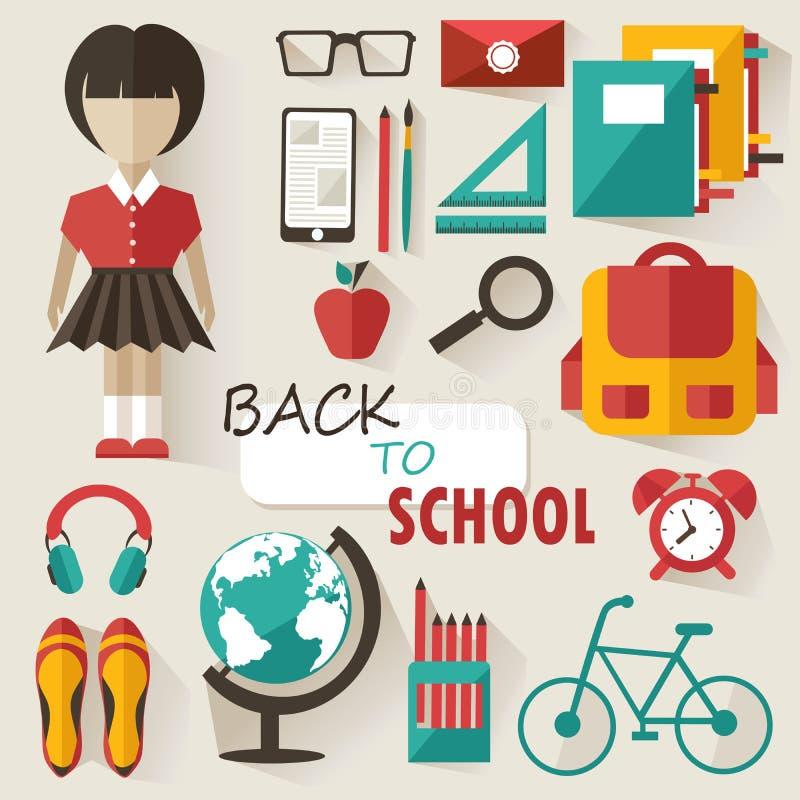 De nuevo a concepto de la escuela libre illustration