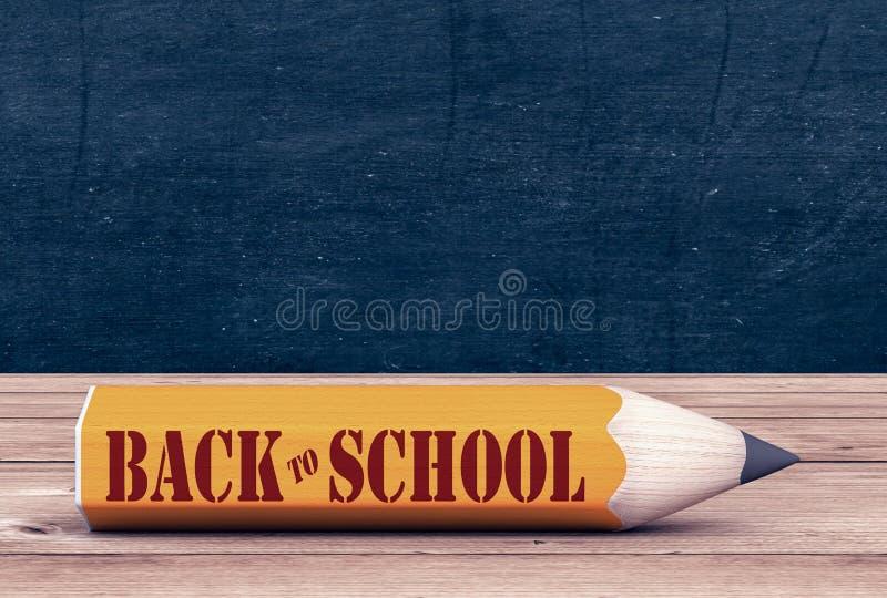 De nuevo a escuela stock de ilustración