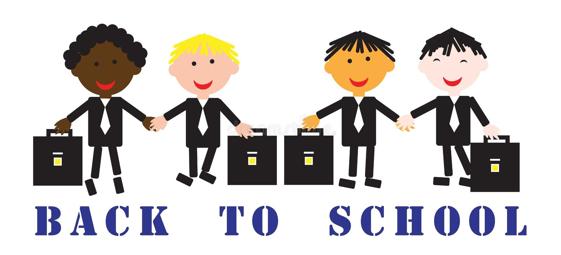 De nuevo a escuela, día internacional de conocimiento, vector ilustración del vector