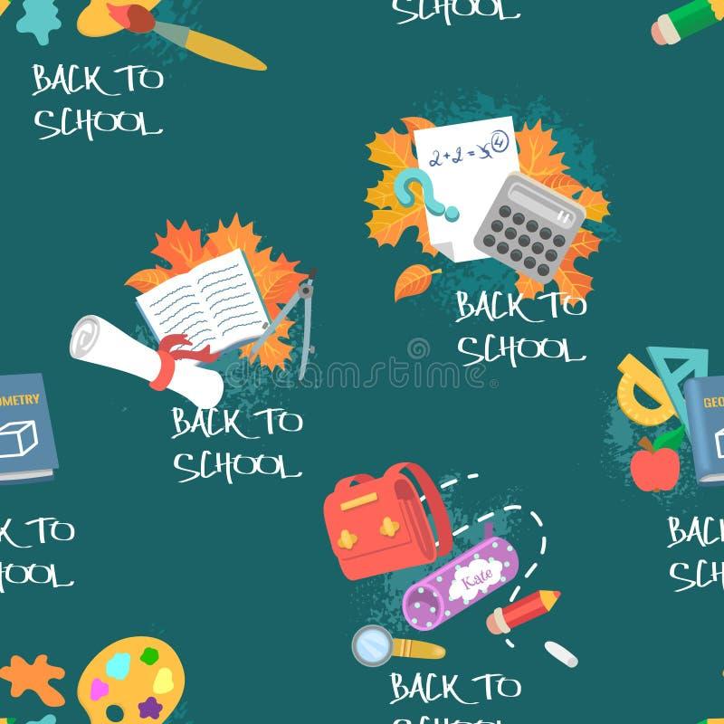 De nuevo a escuela Modelo inconsútil en tema de la educación libre illustration