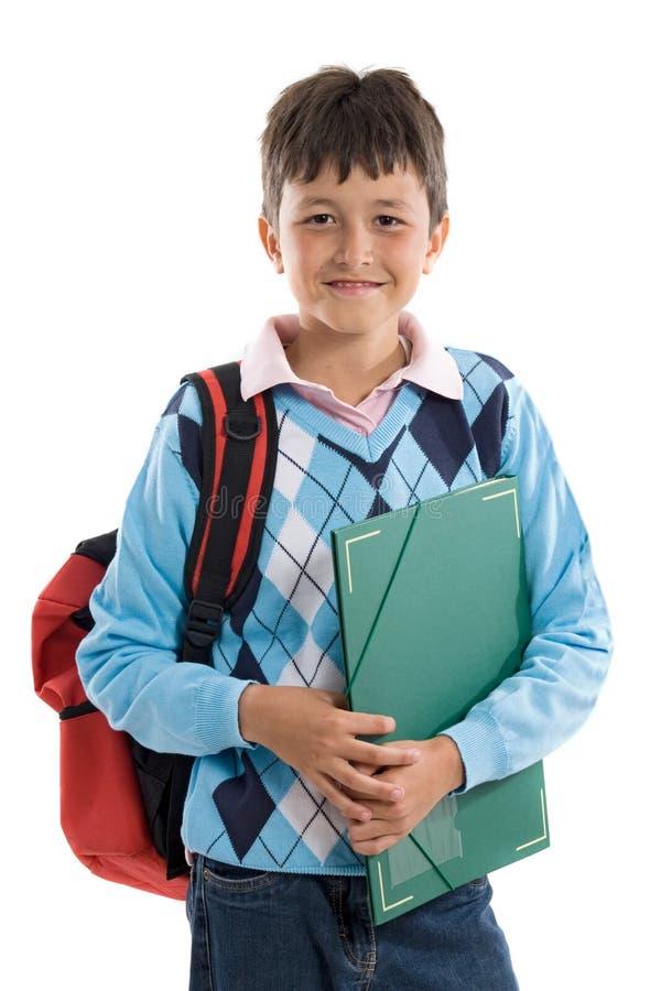 De nuevo a escuela. Muchacho hermoso del estudiante fotos de archivo libres de regalías