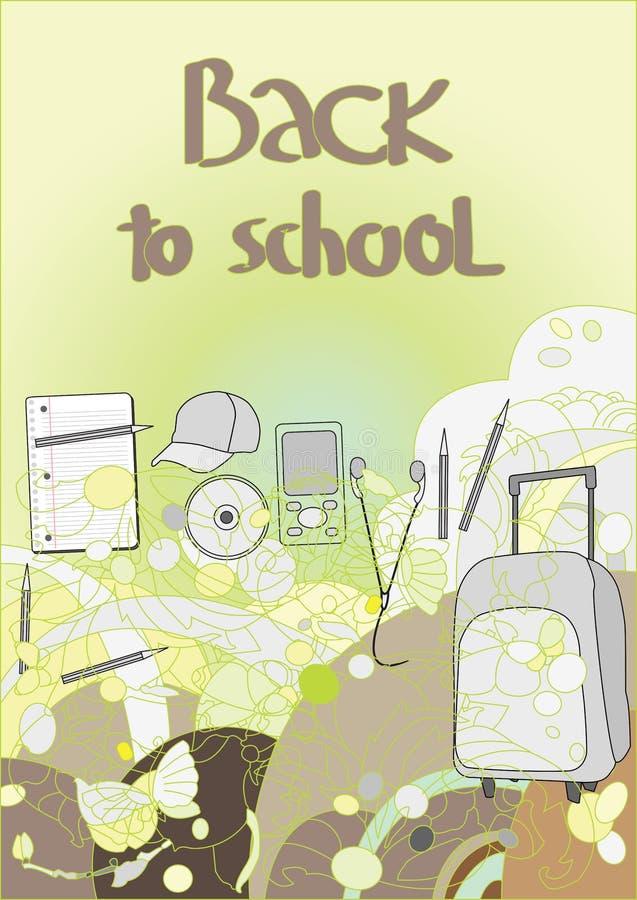 De nuevo a escuela, vector libre illustration