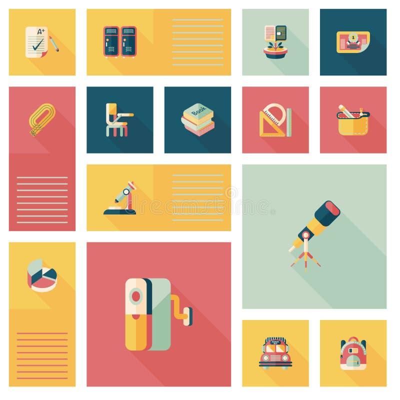 Download De Nuevo A Fondo Plano Del Ui De La Escuela, Eps10 Ilustración del Vector - Ilustración de classroom, pizarra: 44852125