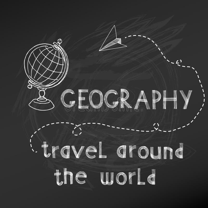 De nuevo a la escuela - geografía stock de ilustración