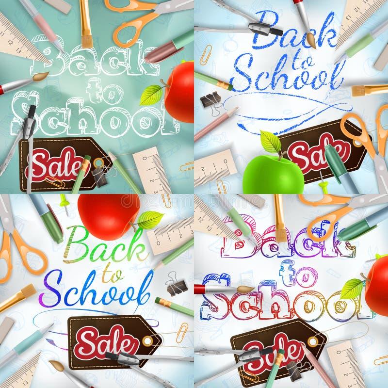 De nuevo a sistema de la venta de la escuela EPS 10 stock de ilustración
