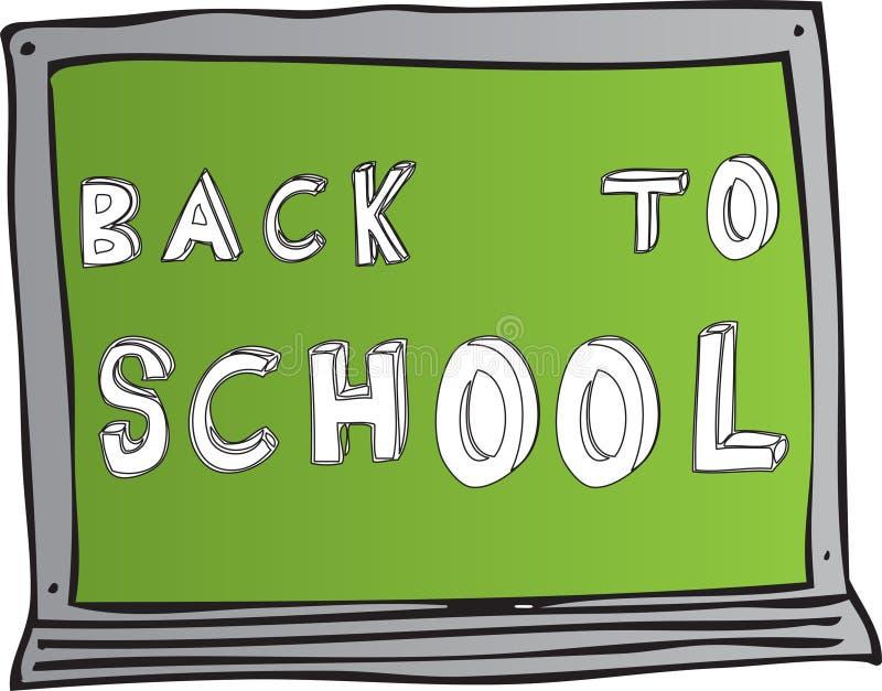 De nuevo a tarjeta de escuela imagen de archivo