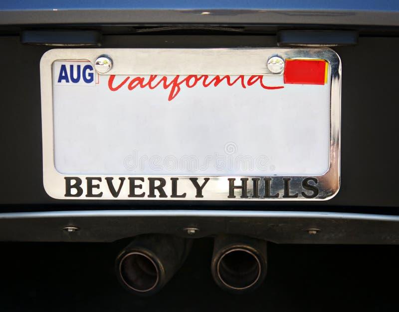 De nummerplaat van Beverly Hills Car royalty-vrije stock afbeelding
