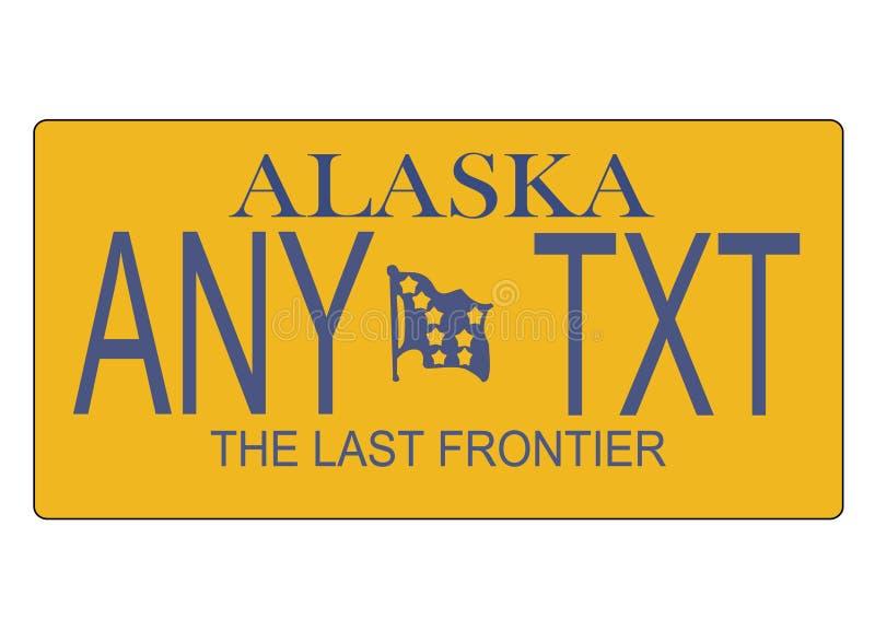 De nummerplaatvector van de Staat van Alaska royalty-vrije illustratie
