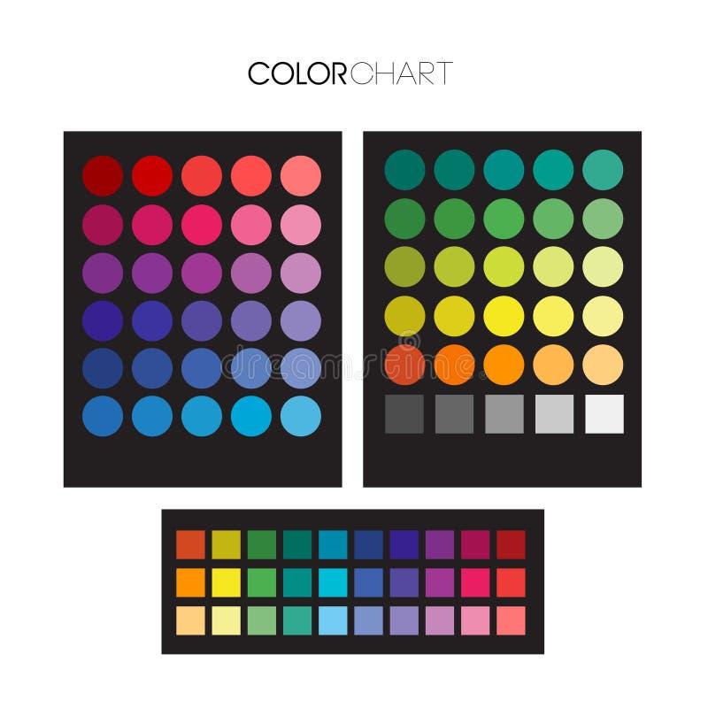 Download De Nuttige Gids Van Het Kleurenpalet Vector Illustratie - Illustratie bestaande uit regenboog, palette: 107708975