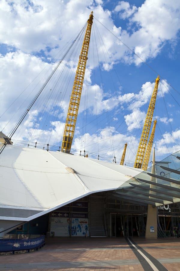 De O2-Arena (Millenniumkoepel) in Londen stock afbeeldingen