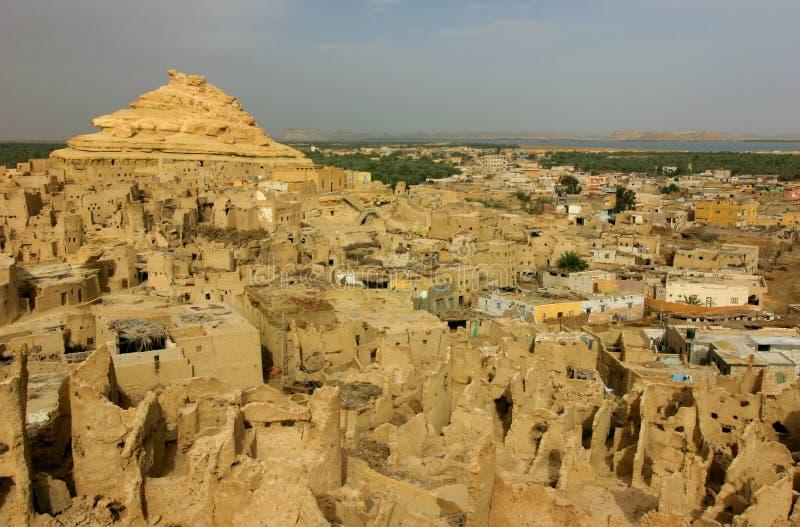 Shali, de antieke stad van Siwa, Egypte royalty-vrije stock fotografie