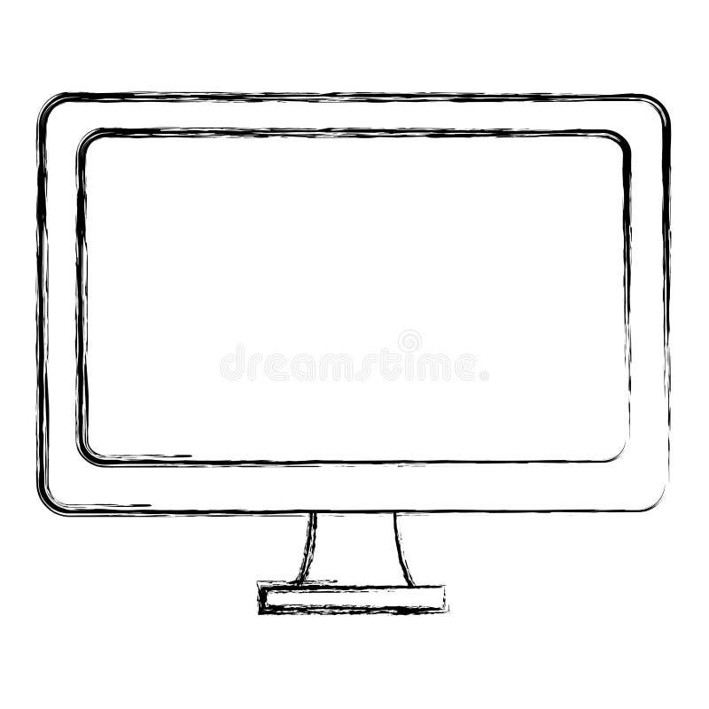 De objecten van de Grunge elektronische computer de technologiedienst vector illustratie