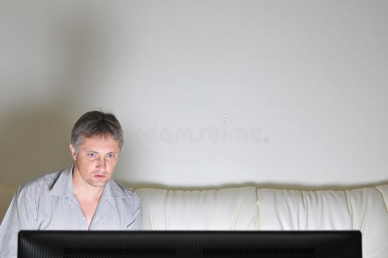 De observateur van de televisie royalty-vrije stock foto