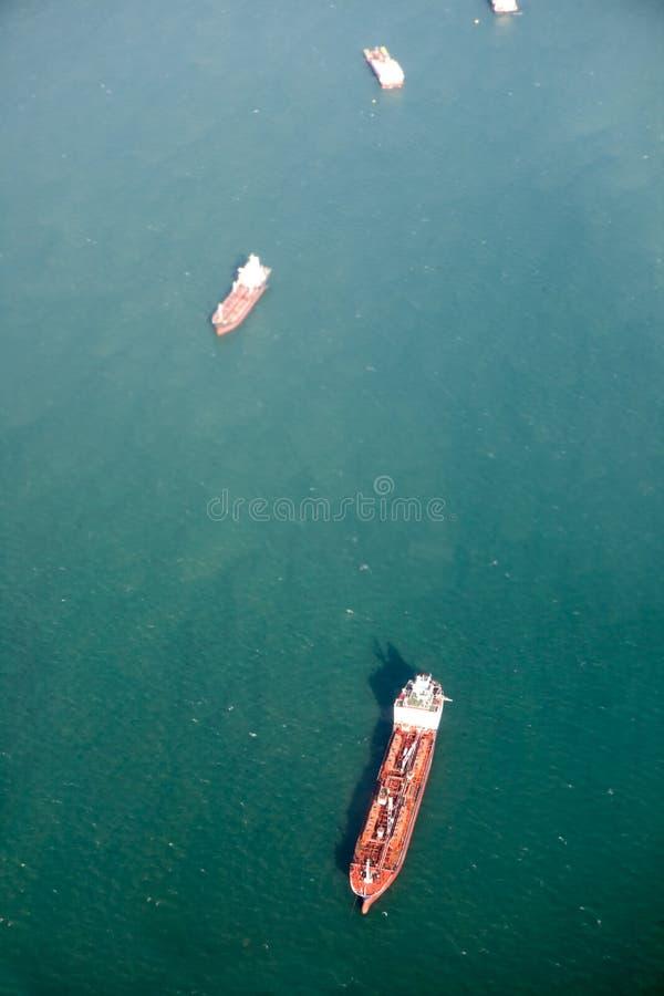 De oceaan Antenne van de Tanker stock foto