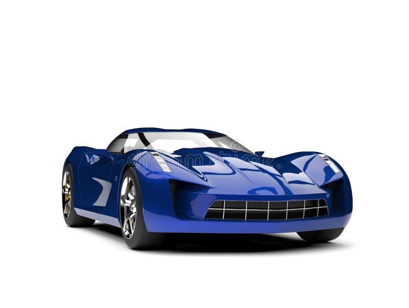 De oceaan blauwe moderne super auto van het sportenconcept stock illustratie