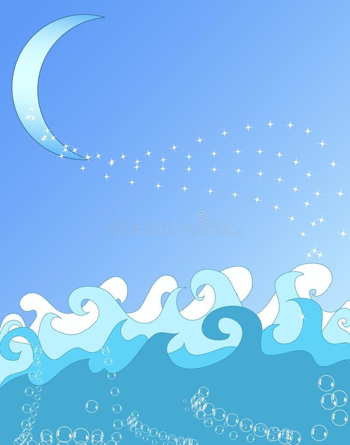De oceaan Illustratie van Golven vector illustratie