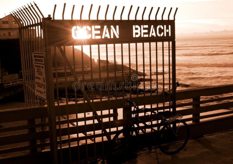 De oceaan Pijler van het Strand stock foto