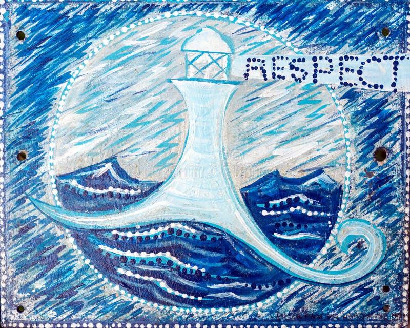 De oceaan respecteren royalty-vrije stock afbeeldingen