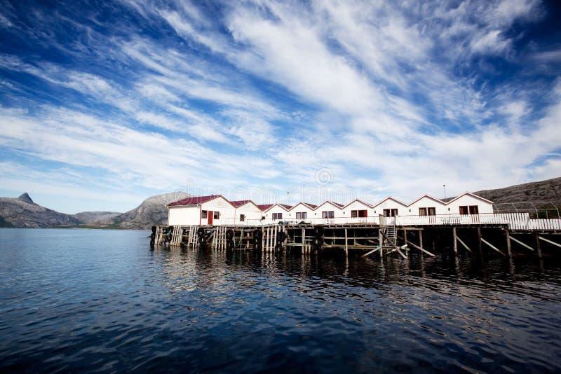De Oceaan van de Cabine van Noorwegen stock fotografie