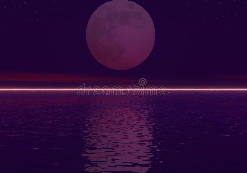 De oceaan van de nacht stock illustratie