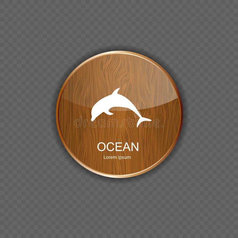 De oceaan vectorillustratie van toepassingspictogrammen vector illustratie