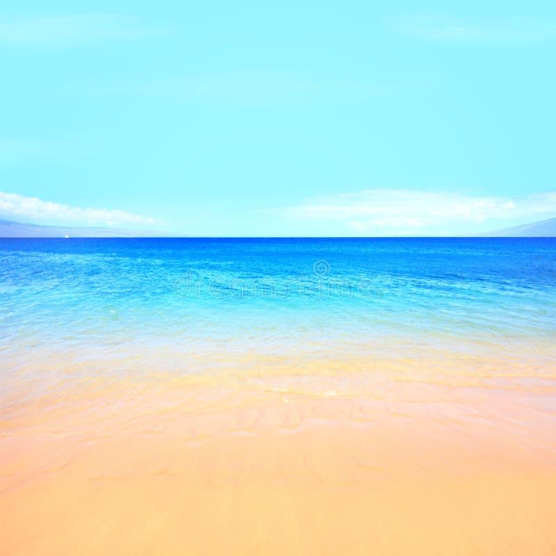 De oceaanachtergrond van het strand royalty-vrije stock foto's